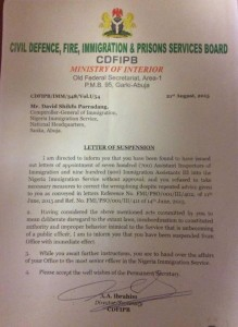 Why Customs boss was susupended